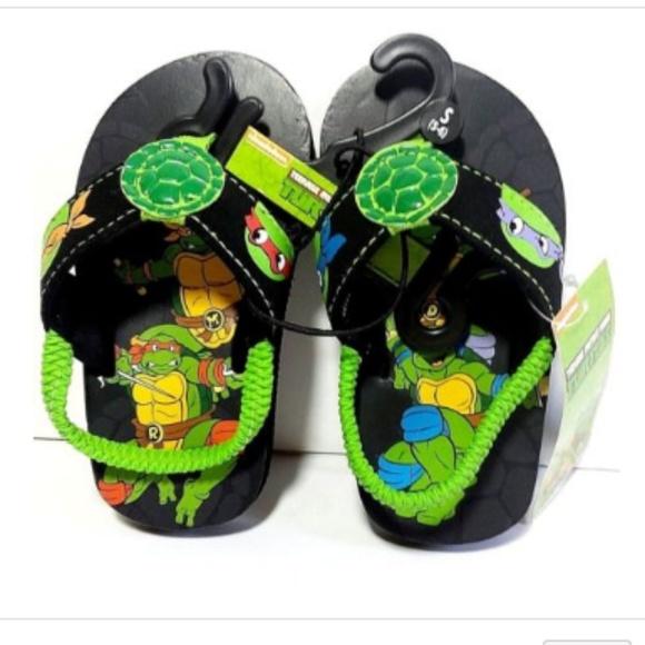 Infant//Toddler TMNT Teenage Mutant Ninja Turtle Sandals Flip Flops Size 9-10